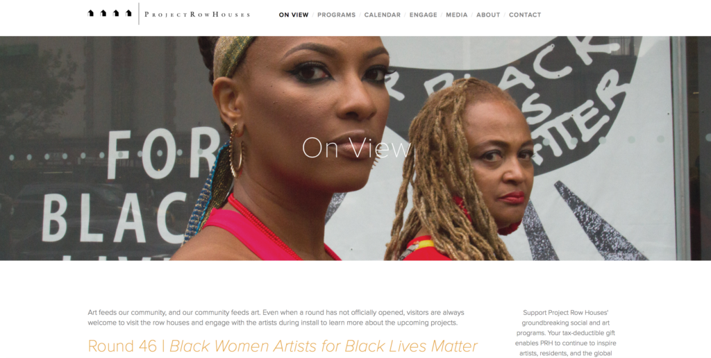 Black Women Artists for Black Lives Matter Project Row Houses Shani Jamila Elvira Clayton New Museum