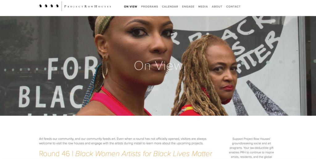 Black Women Artists for Black Lives Matter Project Row Houses Shani Jamila Elvira Clayton New Museum